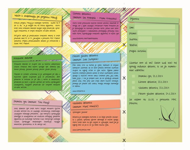 Priprava in predstavitev programa Metulj - Brošura
